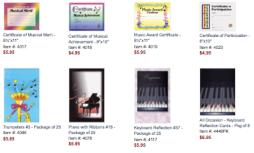 recital programs & certificates